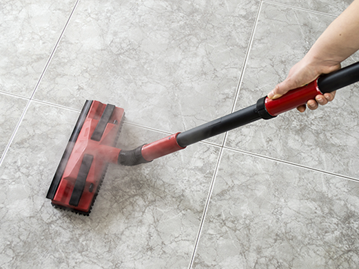 tile floor cleaning with steamer