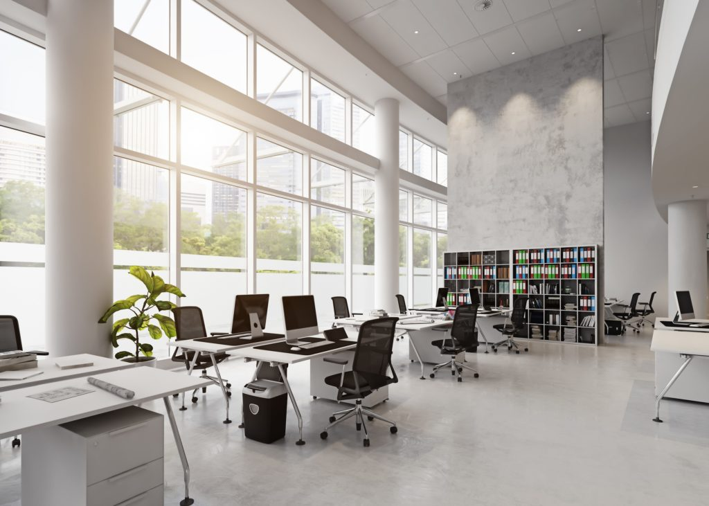 a clean office after office cleaning services